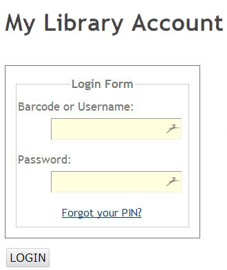 Login to Your Public Library Account